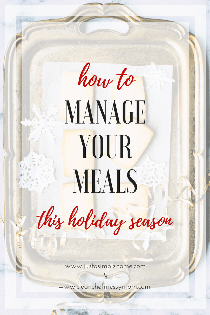 If you need some help on how to manage your holiday meals this season, you have found the right place! Laura is sharing her tips with us on how to manage all that goes in to getting those holiday meals just right. Part of the Simplify The Season Holiday Blog Party at Just A Simple Home.