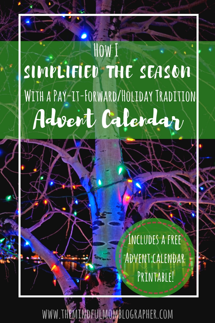How I simplified the season with a pay it forward holiday advent calendar