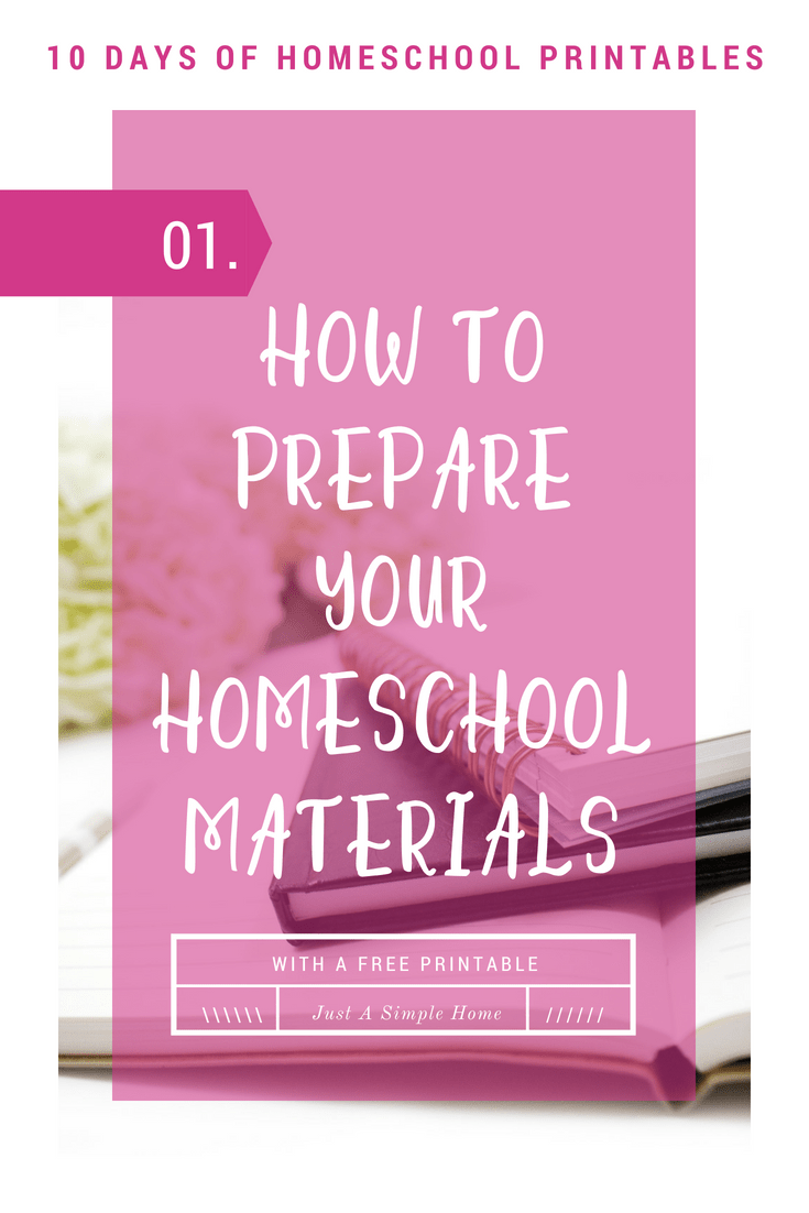 How To Prepare Your Homeschool Materials. This printable will help you keep track of what you need to photocopy and laminate at the start of your homeschool year.