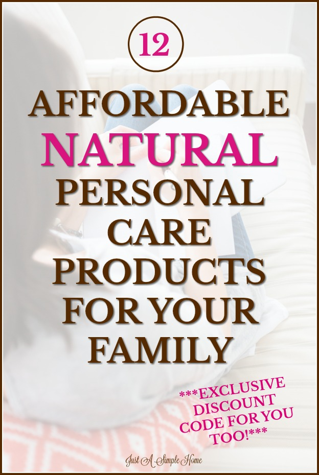 Affordable Natural Personal Care Products for the whole Family