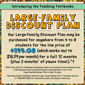 Teaching Textbook Family Plan