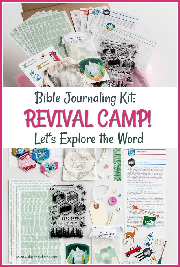 Revival Camp is here! Join us this summer while we Explore The Word and illustrate our faith! This is the first devotional kit of 3 that will be the Revival Camp theme. I am showing you what is included in the devotional kit as well as how I am making a travelers notebook to use for the whole camp. #biblejournaling #devotional #illustratedfaith