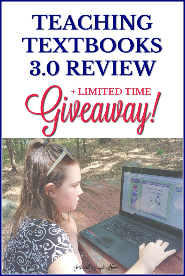 Teaching Textbooks 3.0 Review and limited time giveaway