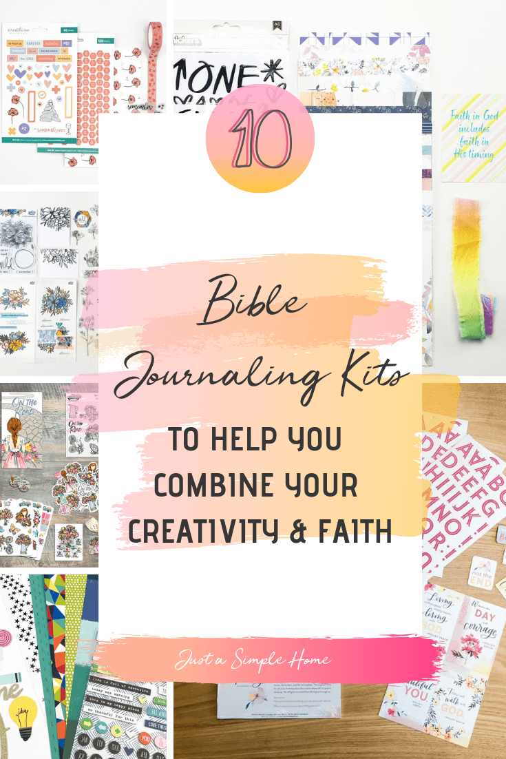 10 Bible Journaling Monthly Kits to help you dig into the Word, study your Bibles, and combine your creativity with your faith! #biblejournaling #biblejournalingkits #devotionalkits #biblestudy