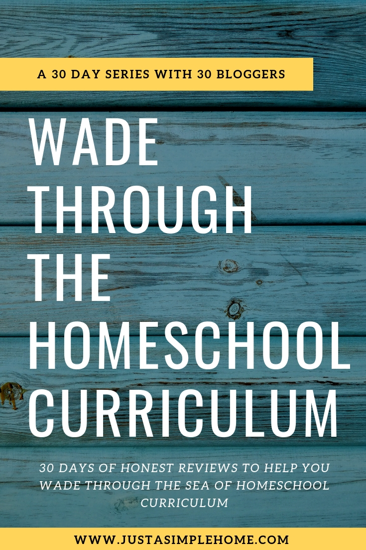 Wade Through The Homeschool Curriculum - a 30 days series of curriculum reviews to help you choose the best homeschool curriculum for your child.