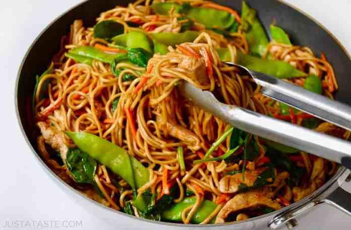 Easy Chicken Lo Mein | Just a Taste