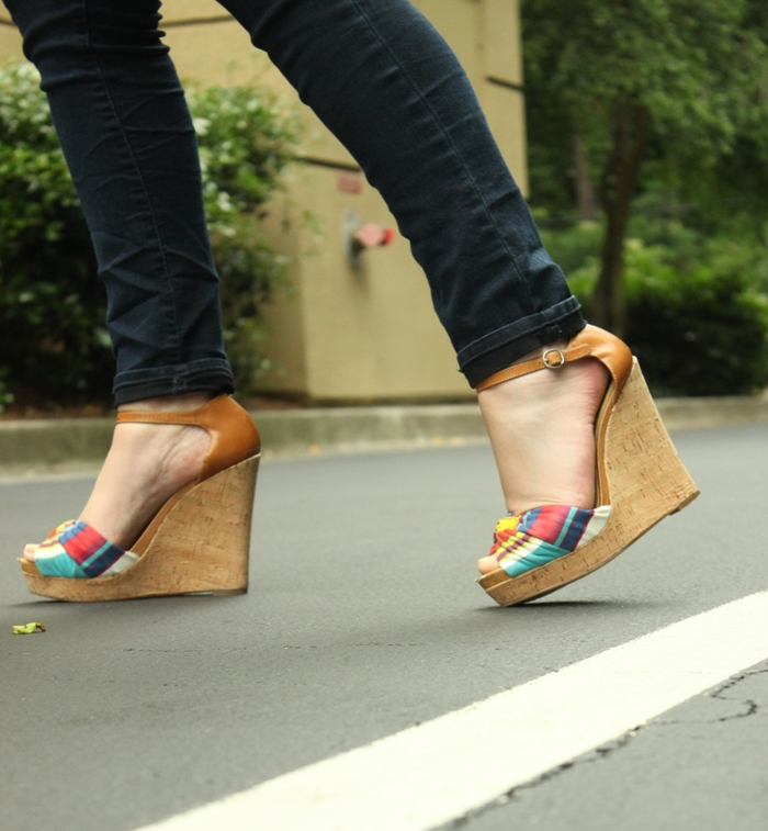 Nine West Multi-colored Wedges