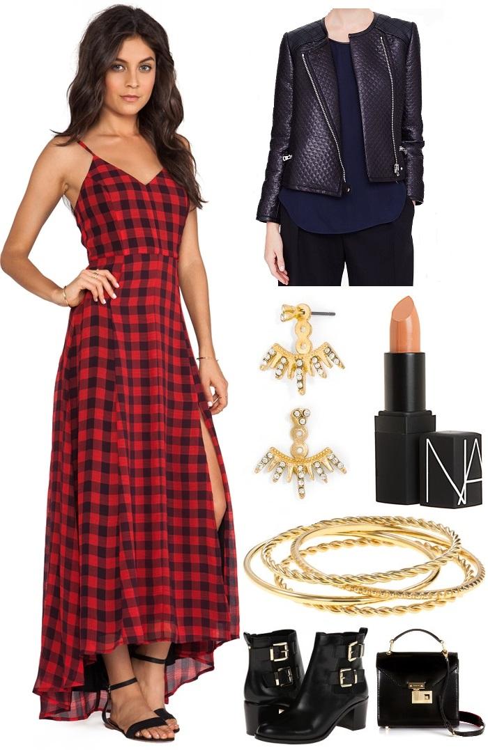 Line & Dot Empire Records Maxi Dress