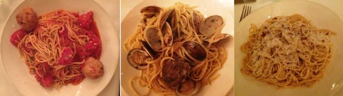Veni Vidi Vici Pasta Spaghetti Pomodoro, Linguini, Spaghetti Carbonara