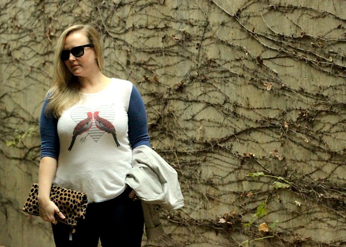 JCrew Bird Top Moto Jacket Fall Outfit Jenna Wessinger Just a Touch Too Much Atlanta Fashion Blog