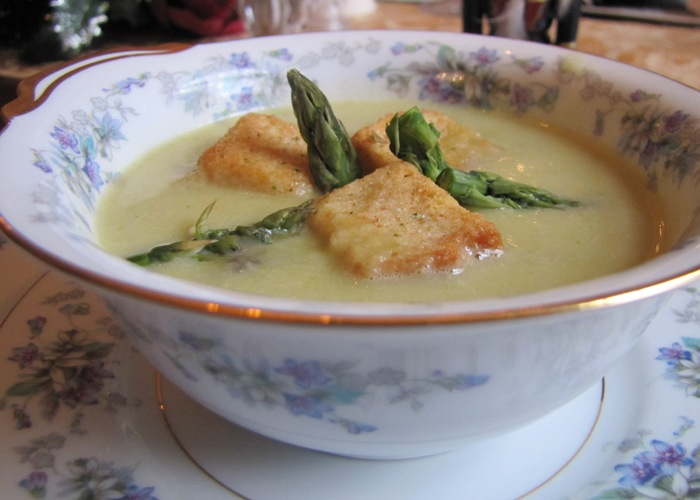 Potato Leek Asparagus Soup
