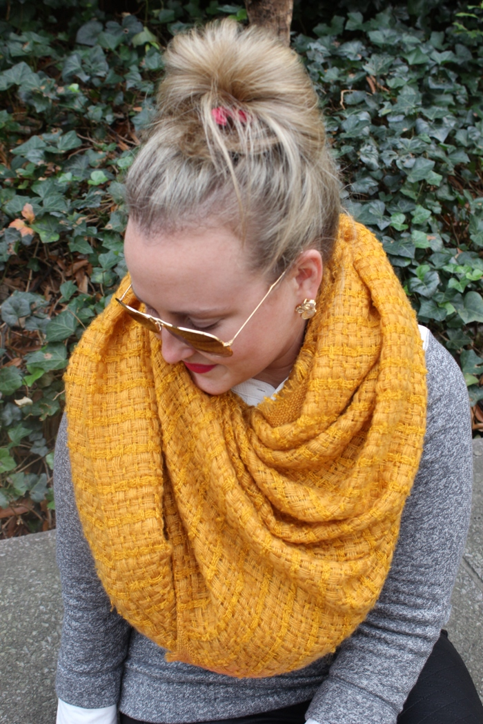 Zara Mustard yellow scarf snood