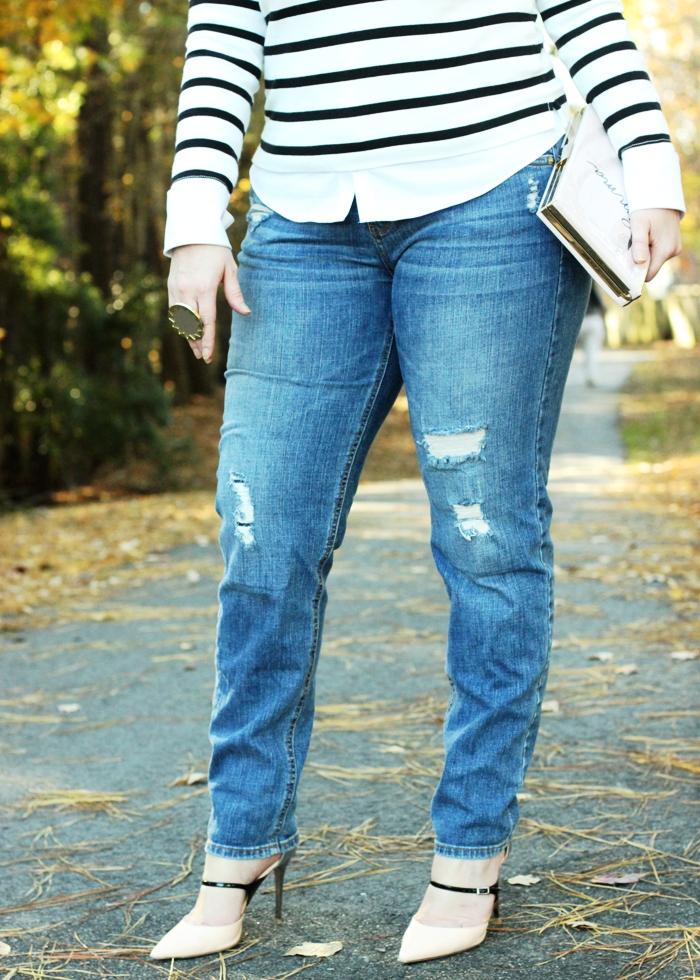 Skinny Long Boyfriend Jeans