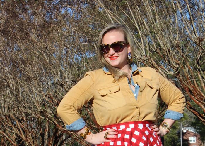 Madewell Carhart Asos Checker Skirt