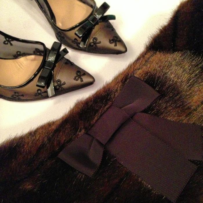 Winter Fur Bows Kate Spade