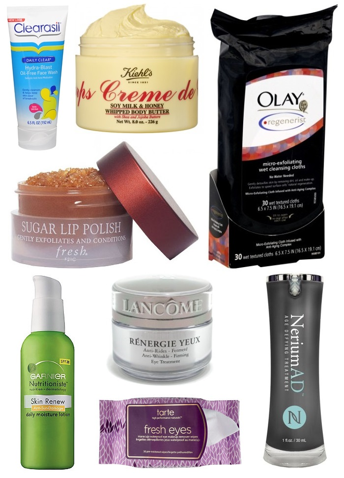 Winter Skin Care Products Clearsil Daily Face Wash | Kiehl's Soy Milk & Honey Whipped Body Butter | Olay Regenerist Cleansing Cloths | Fresh Brown Sugar Lip Polish | Garnier Skin Renew w/ SPF 28 | Lancome Renergie Yeux | Nerium AD Night Cream | Tarte Fresh Eyes Eye Make-up Remover