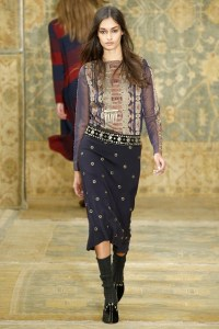 NYFW Autumn Winter Fall 2015 Embellishments Trend Tory Burch