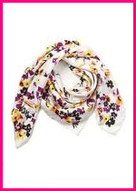 DvF Painted Floral Scarf