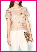 Piperlime Collection Sheer Floral Top