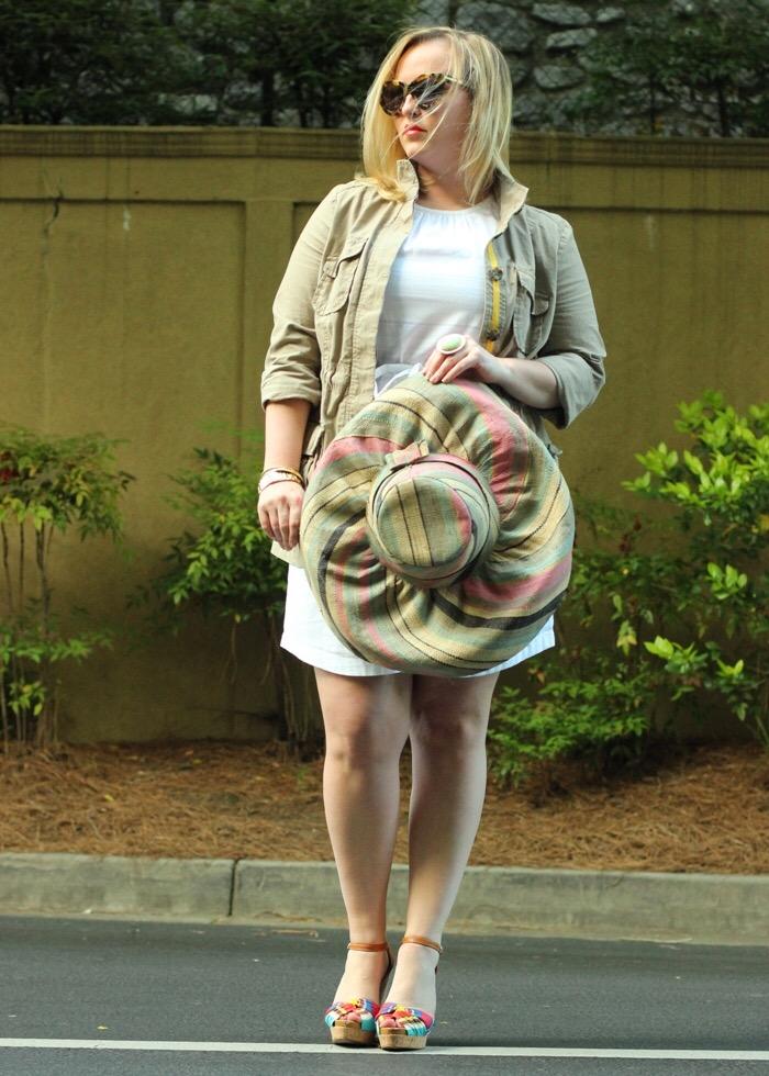 Spring Transition Pieces Anorak Jacket White Dress Anthropologie Sun Hat