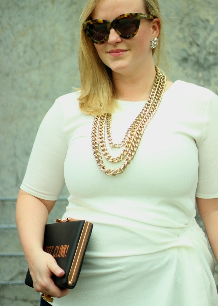 Multi Chain Necklace Karen Walker Cateye Sunglasses