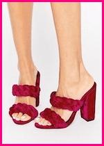 Summer 2017 Fashion Slide Mule Sandals ASOS Highgate Velvet Plaited Mules