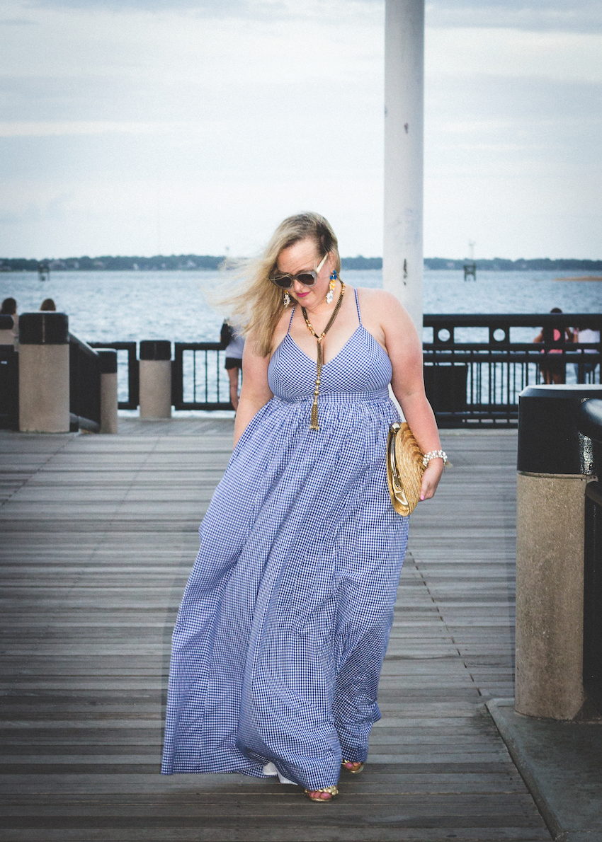 JCrew Gingham Maxi Dress Jenna Wessinger Just a Touch Too Much Charleston Atlanta Fashion Blogger