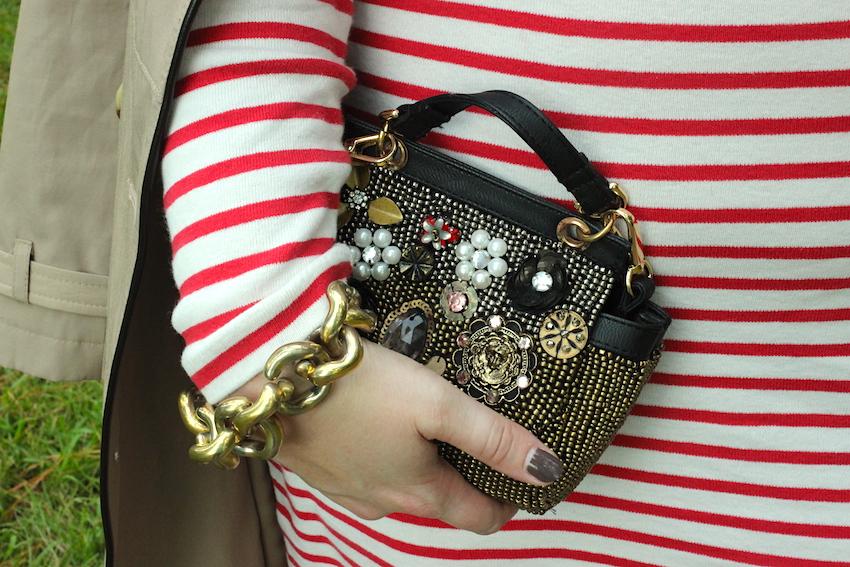 Jcrew Striped Turtleneck Dress Free People Vintage Brooch clutch Jenna Wessinger Fall Outfit Atlanta south