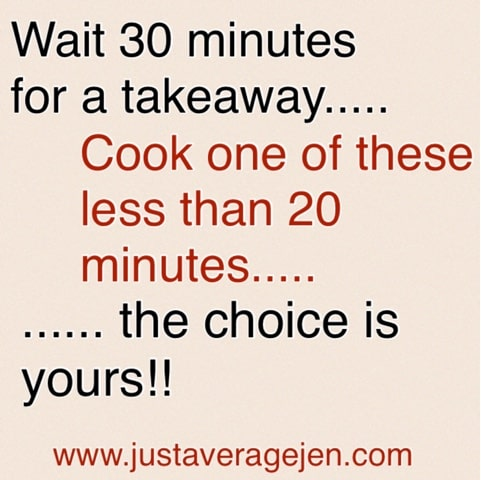 Fridge to plate in less than 20 minutes!