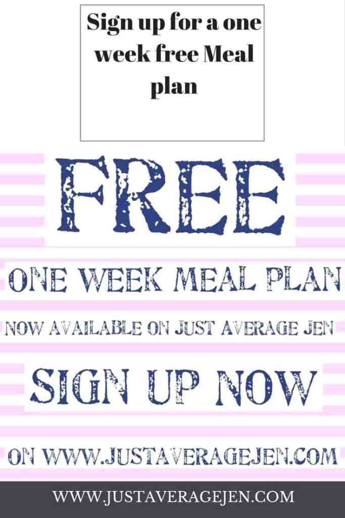 Free one week meal plan