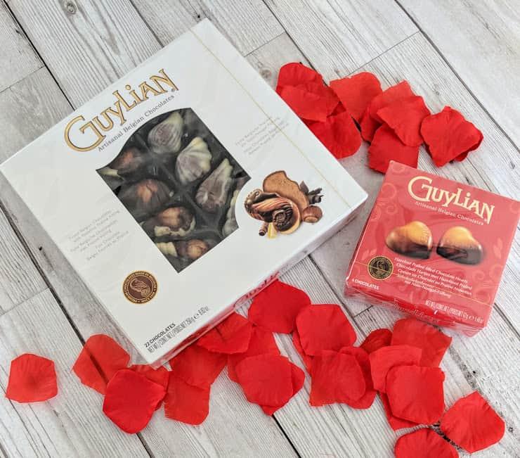 A large and small box of Guylian Chocolates