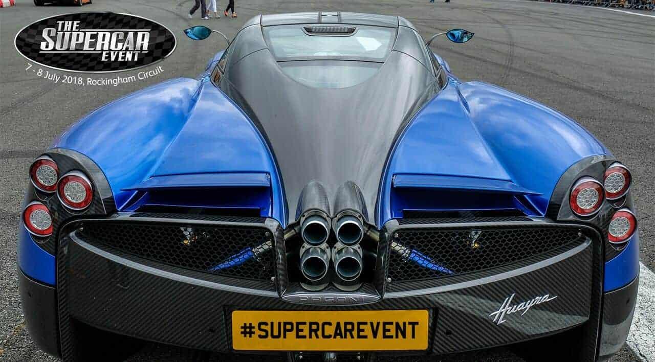 a blue supercar