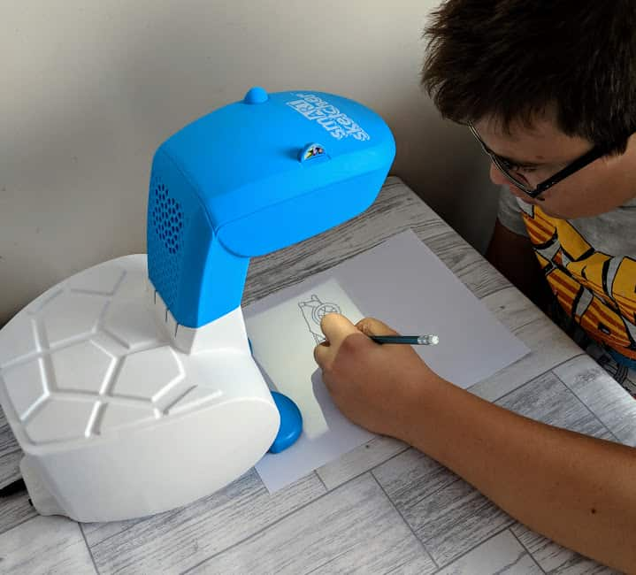 Ben drawing with the smart sketcher