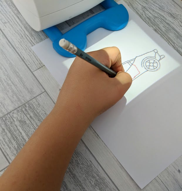 arm drawing with the smart sketcher