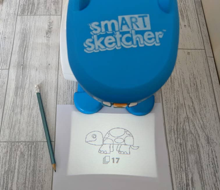 smart sketcher in use