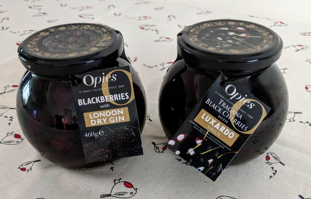 opies jars of fruit in alcohol