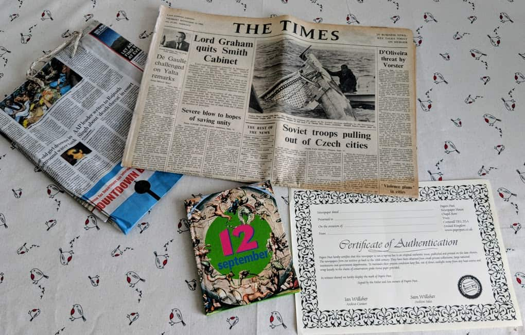 personal newspaper and book