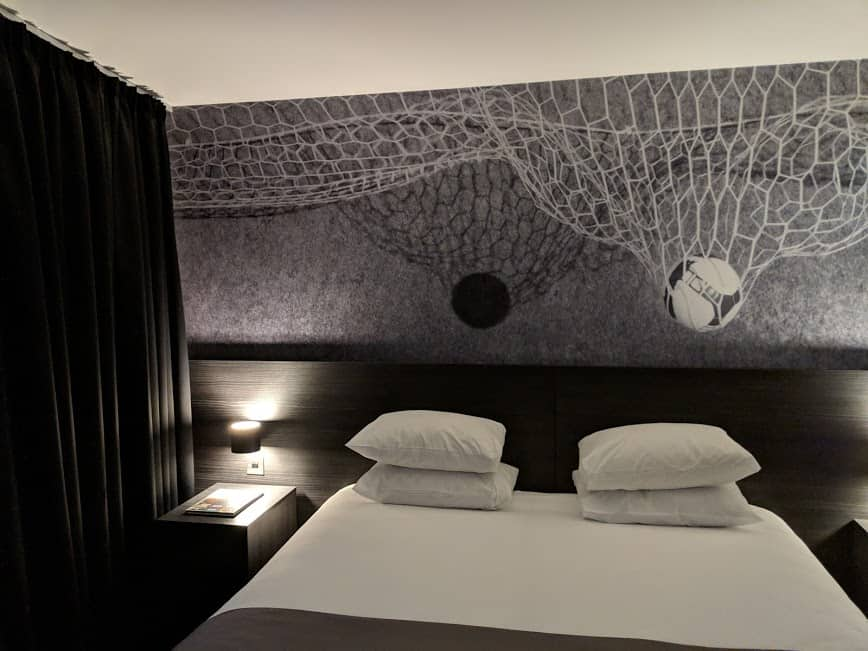bedroom with football design
