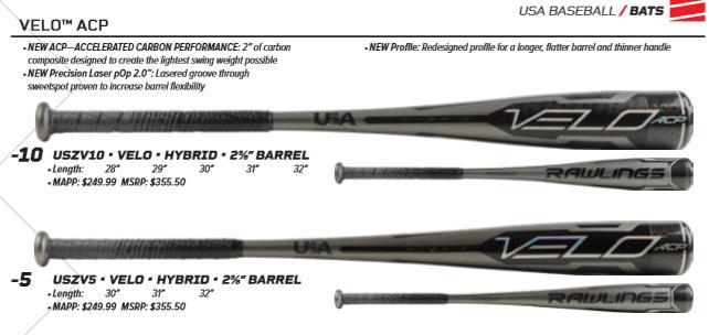 Rawlings Velo Bat Drop 5