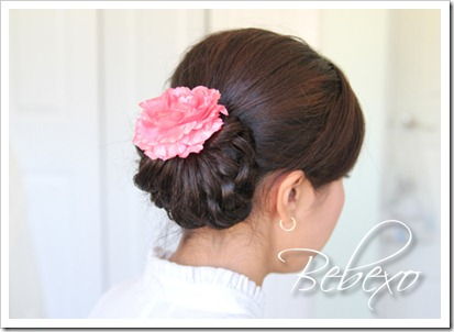 Elegant Knotted Hair Bun Updo | Homecoming Prom Hairstyle