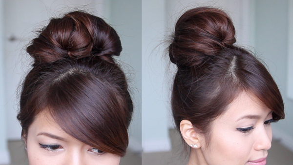 Fan Out Sock Bun Updo