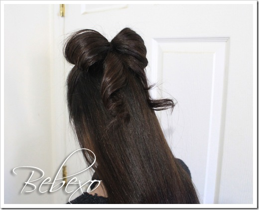 Hair Bow Half Updo Hairstyle