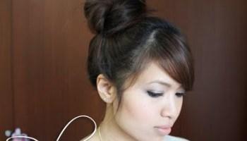 Fan out sock bun updo just bebexo a lifestyle beauty blog korean high bun updo hairstyle pmusecretfo Images