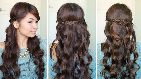 Irregular Braid Headband Hairstyle