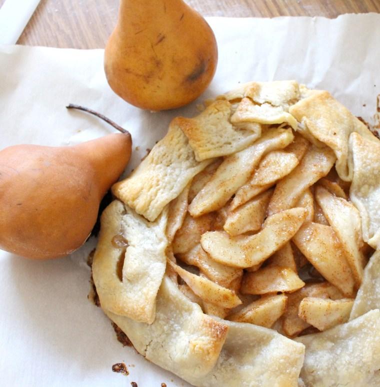 Rustic Spiced Pear Galette 1 | justbeeblog.com