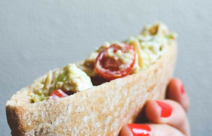 Chicken Avocado Salad Pita Pockets