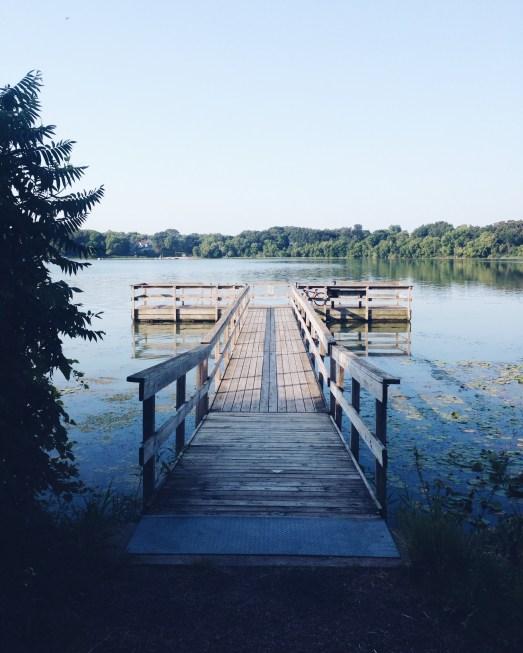 the dock at the lake near where I grew up!