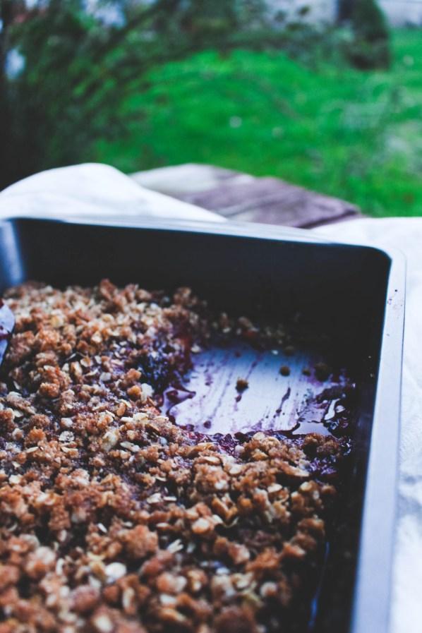 Peach Blackberry Vanilla Crisp Fall Recipe - Just Bee Blog