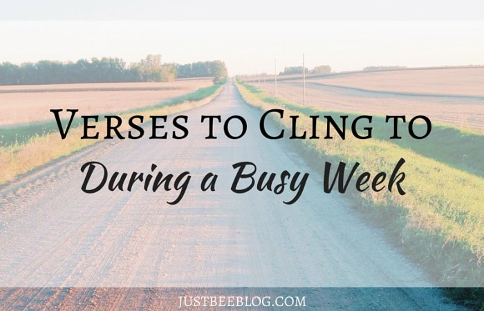 Verses to Cling to During a Busy Week