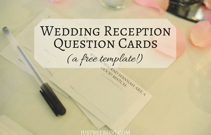 Wedding Wednesday: Reception Guest Question Cards (A Free Printable!)